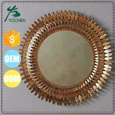 Luxury Gold Metal Small Circle Sundial Mirror