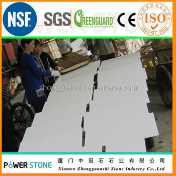 Square meter price of crystal white glass floor tiles