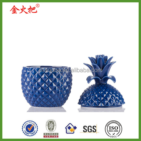 Pineapple jar design for candy jar container