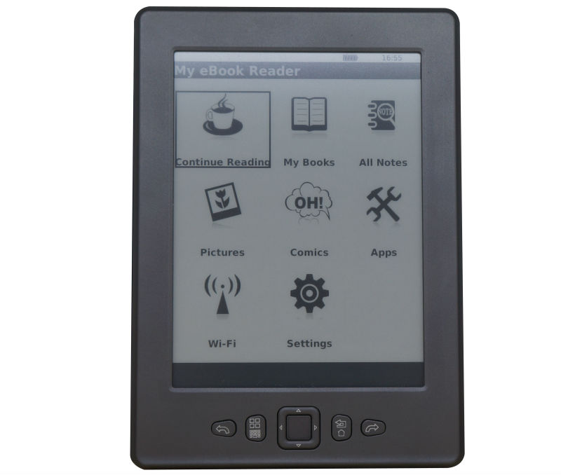 E-INK Wi-Fi Front light Rockchip Paperwhite ebook reader 6 inch (E862)