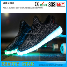 Yeezy Boost 350 Led Light Up Shoes for Adults Glowing Sneakers Sport Shoes Men Superstar Shoes Woman Roshe Run 2016