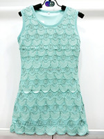 Beautiful sequins sleeveless children dress with water droplets shape girls dresses for 2015 new style girls dresses 3316