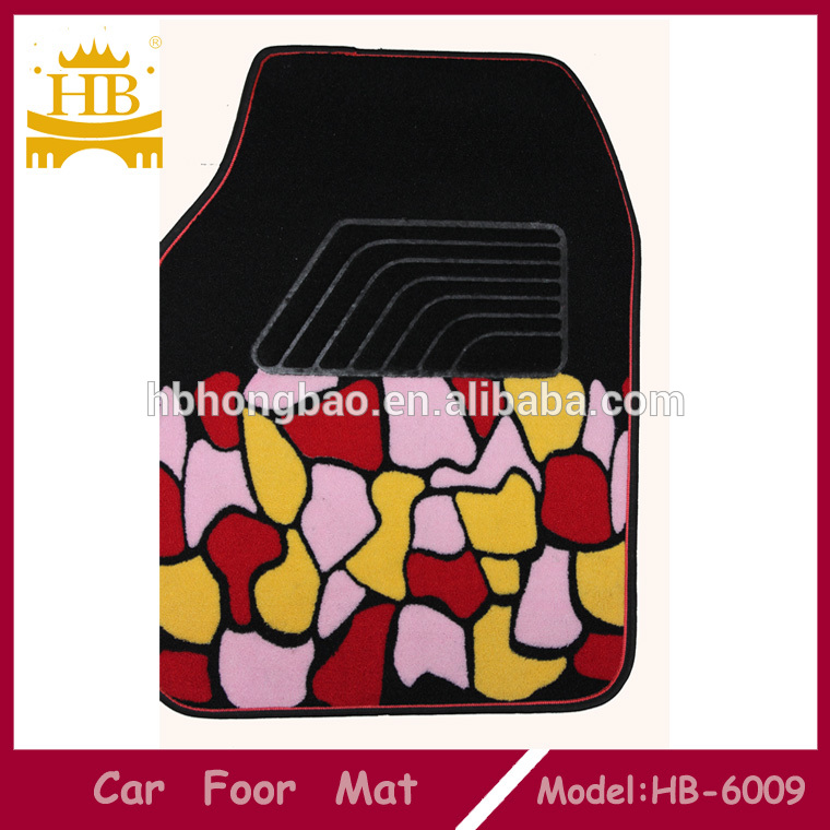 Anti slip fur auto floor mats