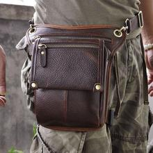 Boshiho Outdoor Sport Leather Waist Travel Bag Rfid for Men