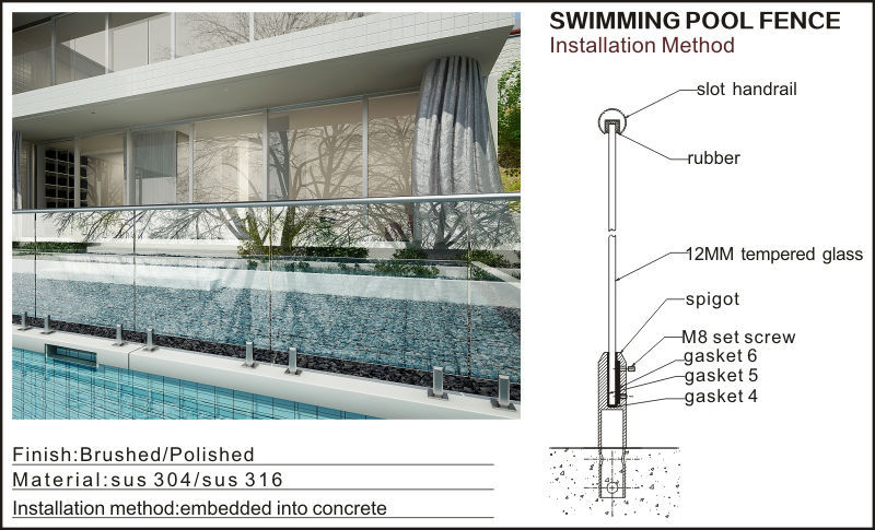 Indian hot selling frameless glass railing for swimming pool buy frameless glass balcony - Advantage using tempered glass fencing swimming pool balcony deck ...