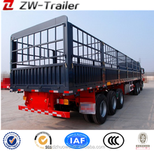 competitive price live stock anminal CARGO TRANSPORT 3 axles truck stake semi trailer / fence semitrailer for sale