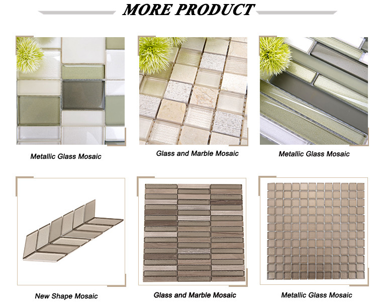Most Durable Glass Tile ,Grey Floor And Wall Tiles Metallic Glass Tile