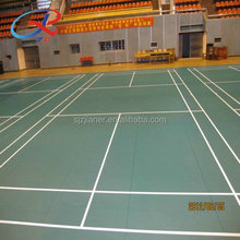 Green Indoor Badminton Court PVC Vinyl Flooring