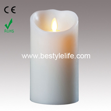 real wax flicker flame LED artificial candle light