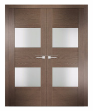 Modern Frosted Glass Interior Wooden Bedroom doors