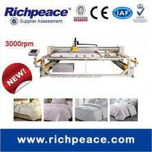 Richpeace computerized single head for duvet quilts, pillow,mattress quilting machine