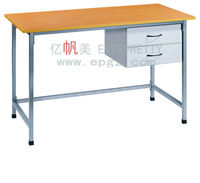 Wooden top office desk,teachers table steel,teacher lecture table with two drawers