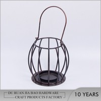 Home decoration accessories rotary lantern iron candle holder