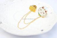P794-048 fashionable gold multi uses for hair scraf handbag dress decorations cat and logo lapel pins brooch