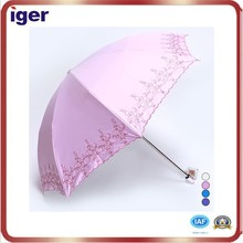 pink rain and sun indian embroidered umbrella