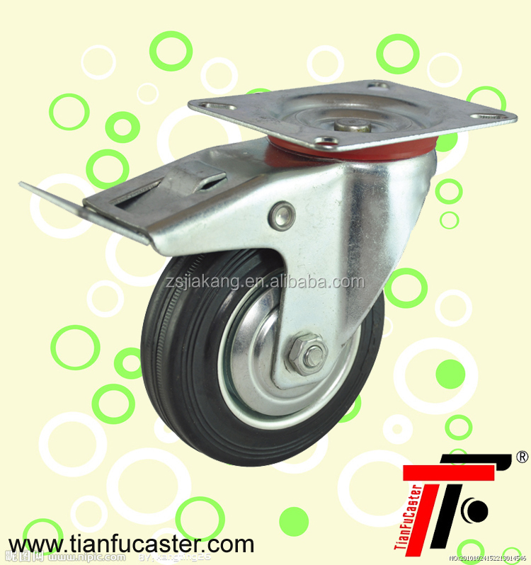 3.5 inch industrial rubber caster wheel for cart