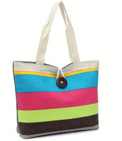 hot sale printed small zipper cotton canvas tote bags