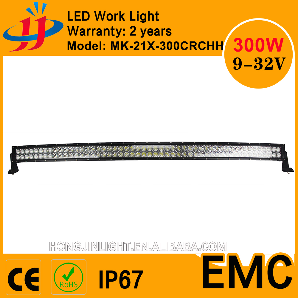 On sale 300w curved led light bar fire truck auto parts off road automobiles & motorcycles