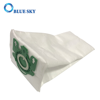 White Non-woven Green Plastic Collar Dust Collection Bag for Miele S7 Vacuum Cleaner