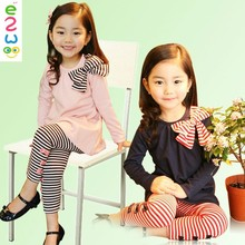 Fashion Striped Children Sets Cotton Girls Children's Clothing Sets For Wholesale