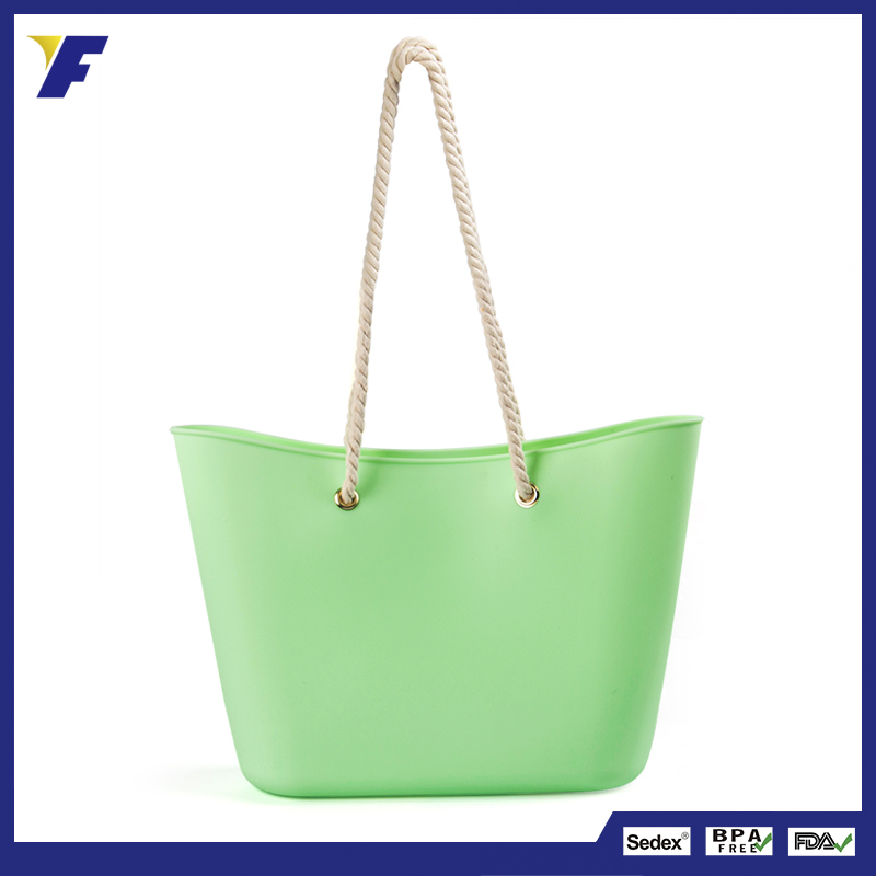 Cheap colorful hand bags silicone shopping bags for women