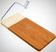 Hot sale Bamboo Wood Cheese Slicer, cheese cutting Board with slicer wire