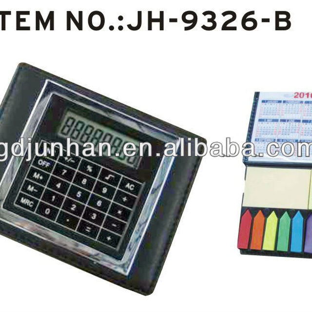 JH-9326B promotional 8 digital electronic touch screen calculator with memo pads
