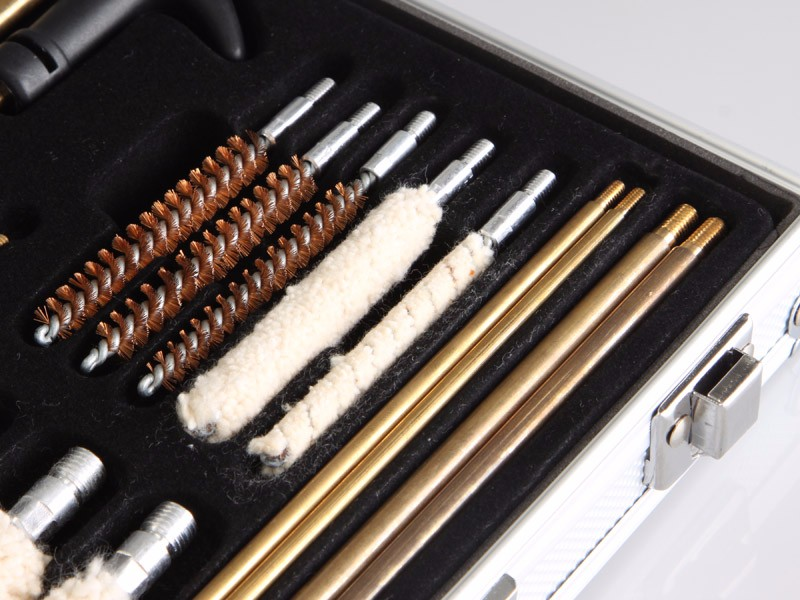 gun cleaning kit set with aluminum case for handgun rifle pistol gun accessories hunting rod brush cleaning tool