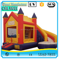 Inflatable bouncer slide combo / jumping bouncy castle,Cheap indoor and outdoor inflatable gaint bouncer for adults and kids