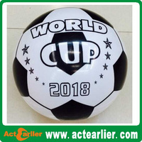 9 inch inflatable plastic pvc soccer toy balls