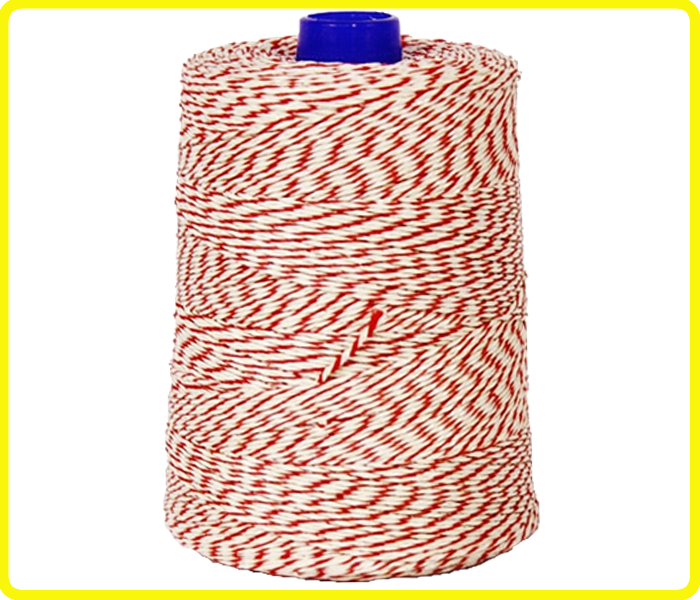 100% cotton red white string ,T/C baker twine rouge , crafts with twine