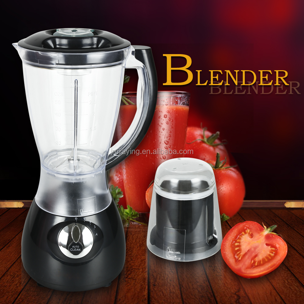 Hot Sell 1.5L Glass Jar 4 Speeds 2 In 1 Food Blender Machine