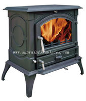 high output cast iron solid fuel wood stove
