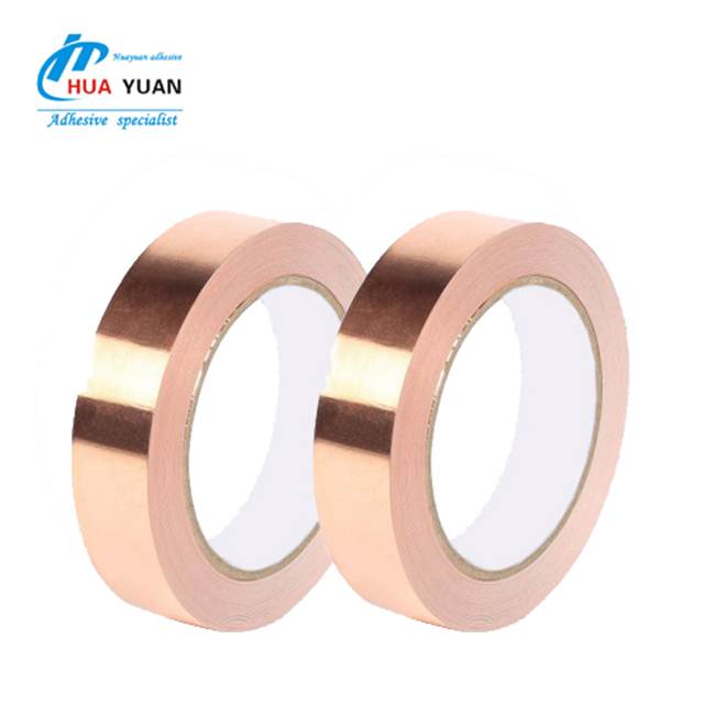 electrical single or double side conductive adhesive EMI copper foil tape tape for EMI shielding foil for EMI