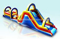 Top quality inflatable bouncy castle with water slide for sale Z4017