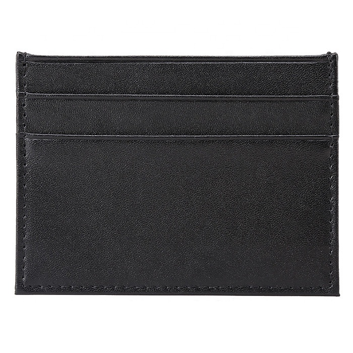 Ultra-thin and simple mini Cowhide Leather wallet for <strong>men</strong> and women
