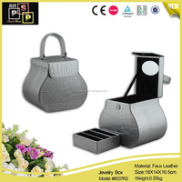 luxury silver leather custom jewelry travel case