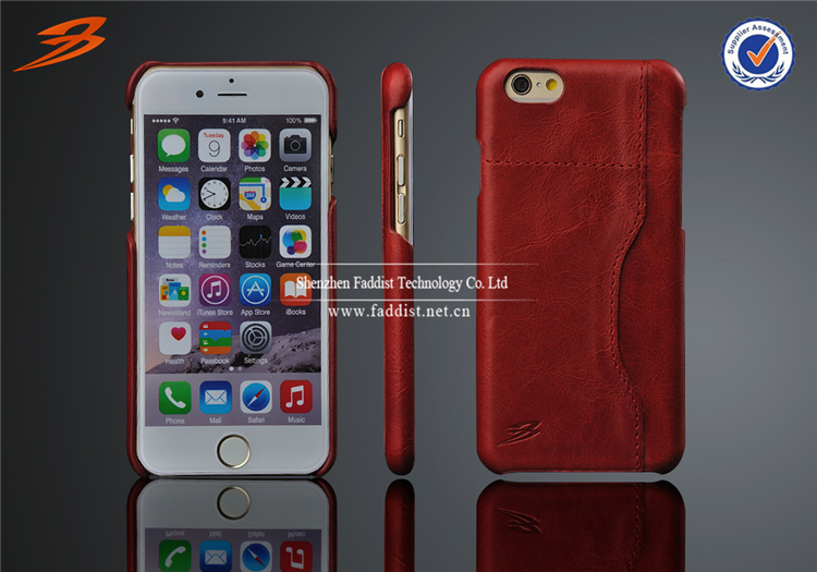 Wholesale hot items 2017 new arrival Top Grain genuine real Leather Case for iPhone 6