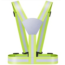 Reflective Running Gear Hi-visibility Vest with Silver Reflective Film
