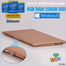 Ultra thin i5 laptop sales in ShenZhen Intel core i5-5200U gaming laptop 13.3inch with RAM, Hard Disc, dual Band WIFI bluetooth