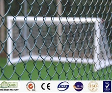 Green PVC coated high standard removable chain link fence wholesale price