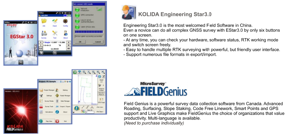 Kolida K5 Plus has advanced data-link module high precision gnss rtk cheapest price gps rtk surveying