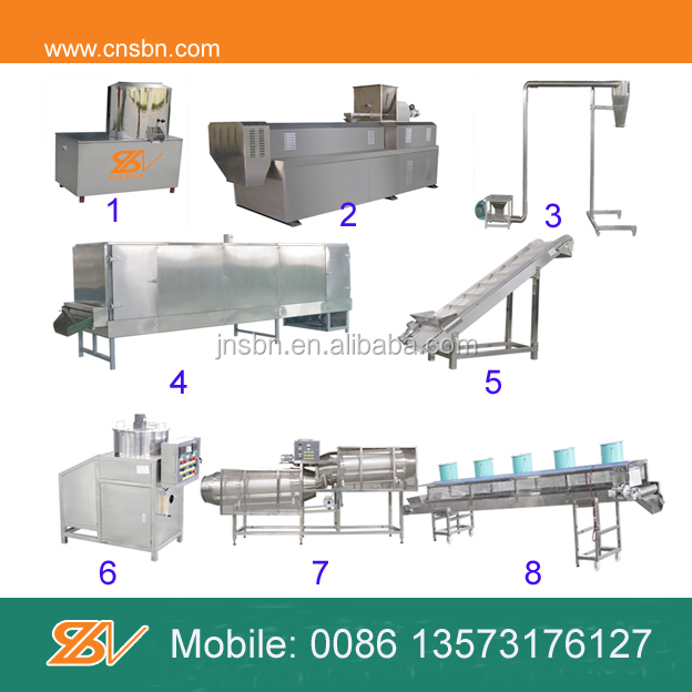 Hot sales! continuous automatic slow sinking fish feed pellet machine