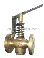 Shipbuilding fuel oil tank self-closing drain valve