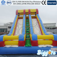 Dual Lane Commercial Inflatable Waterslide For Sale