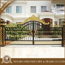 Adjustable Decorative Aluminum Garden gate/High Quality simple wrought iron gate/Outdoor Black Powder Coated Aluminum Arched Gat