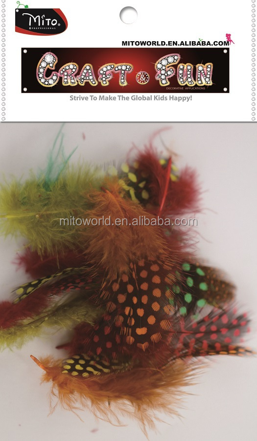 Guinea Fowl Spotted Feathers, สีผสมขนนกหลวม