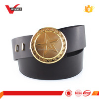 Fashion black russian military leather belts