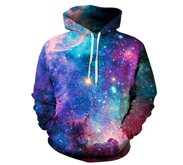 Hot Sale! 3D printing starry sky big yards of hoodie!