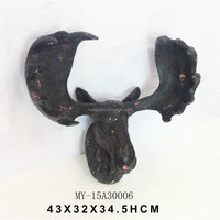 Western Antique Deer Head Wall Decoration